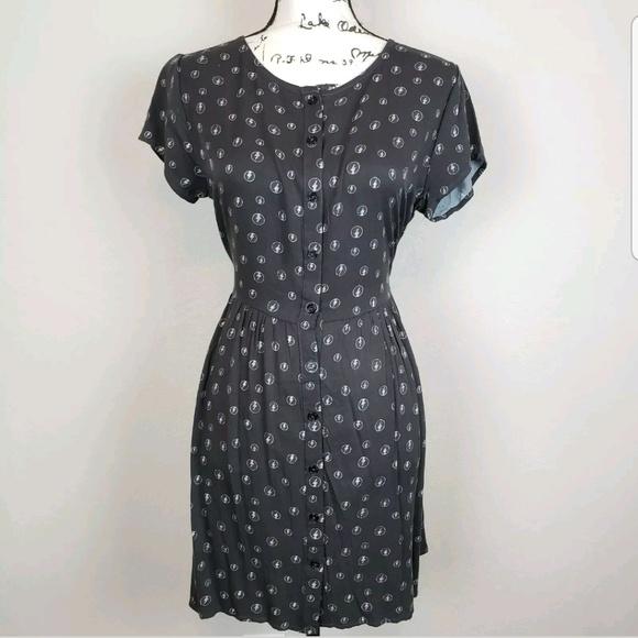 Junk Food Clothing Dresses & Skirts - Grateful dead button down dress